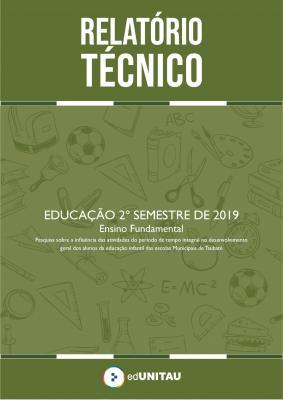 Capa para Relatório técnico : Ensino fundamental - 2º semestre 2019