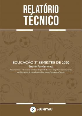 Capa para Relatório técnico: Ensino fundamental - 2º semestre 2020