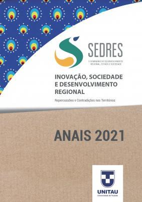 Capa para Anais do V SEDRES : Seminário de desenvolvimento regional, estado e sociedade :  Inovação, sociedade e desenvolvimento regional : repercussões e contradições nos territórios